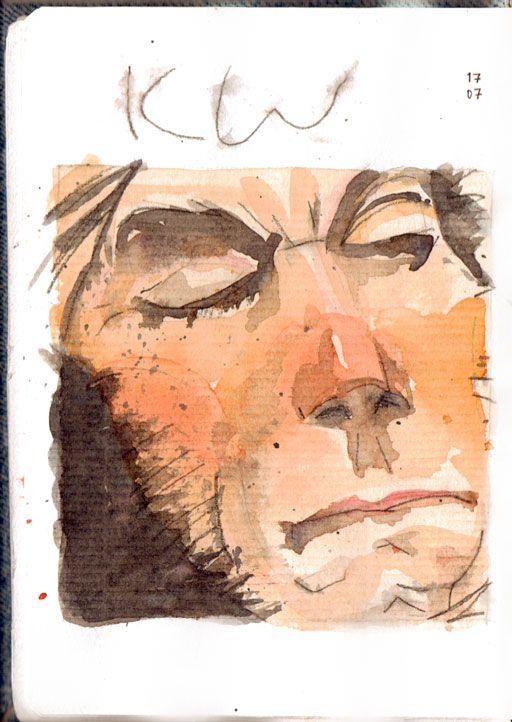 © Eldes.com - SKETCHBOOK   10 - Studying Kent Williams. #sketchbook #watercolor #wolverine