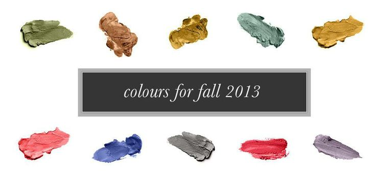 Color #forecast for #fall 2013.  Tell us what your favorite #color is for this season!