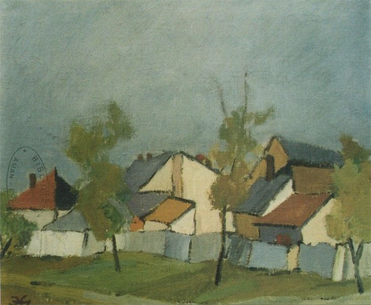 Eustaţiu Gregorian - Craiova Veche - painting in full format at www.iCraiova.com