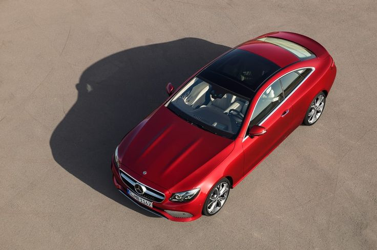 A bird's eye view of the new E-Class Coupe