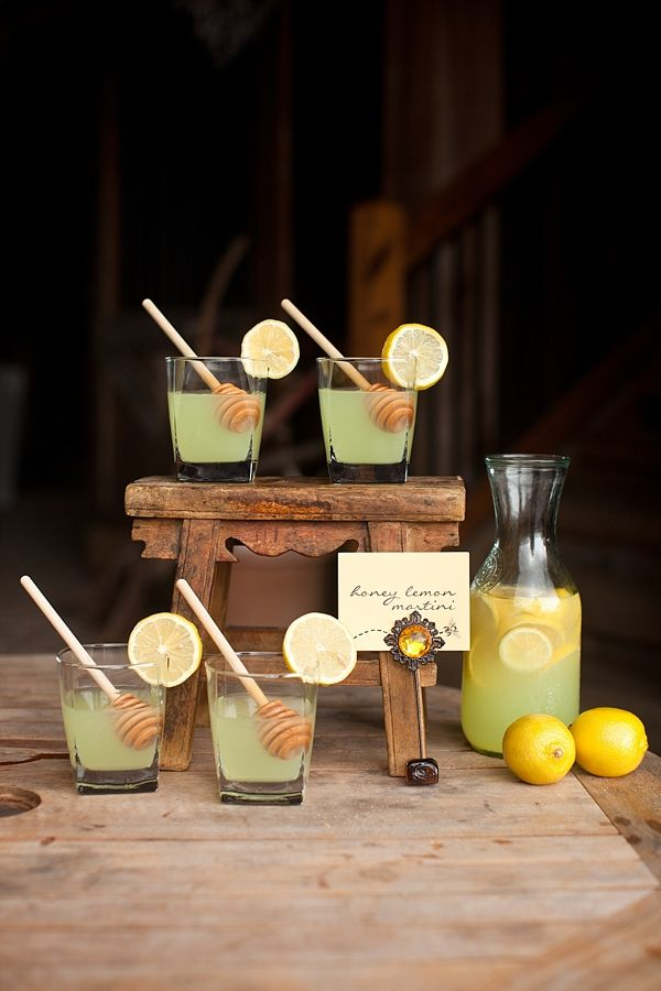 signature drink ideas: Honey Lemon Martini