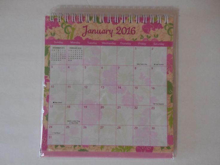 2016 Desk Calendar Stand Easel Spiral Bound Quot Floral
