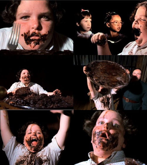 no scene in any movie i saw before this, nor any since has made me feel as physically ill as poor bruce bogtrotter in matilda. at the same time, it was awesome and triumphant and the whole movie was pretty sweet in general.