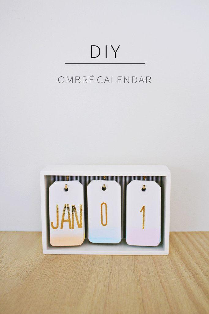 Diy: fabriquez un calendrier ombré pour votre bureau! | BricoBistro:                                                                                                                                                                                 Plus
