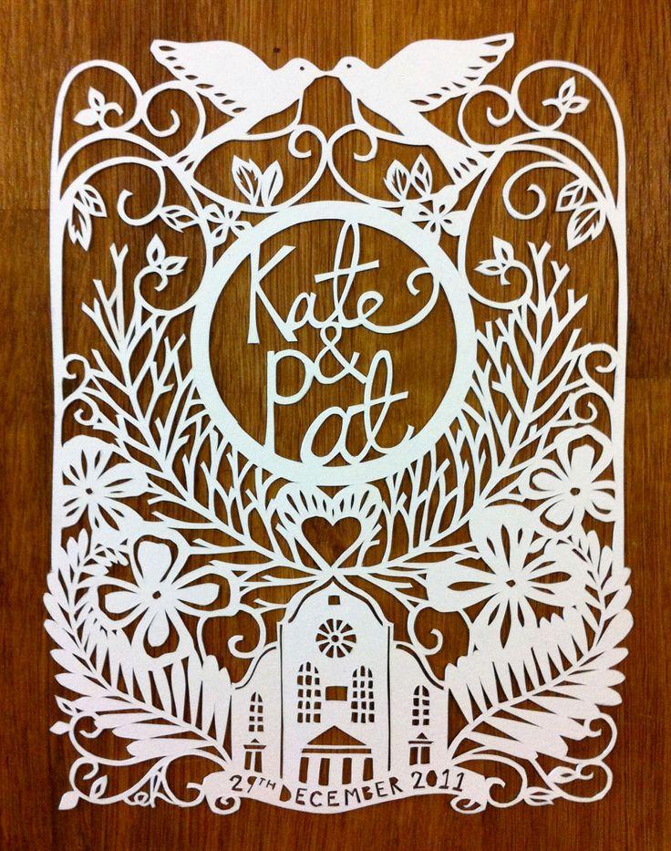 paper cut wedding invitation / emily hogarth