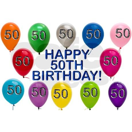 Happy 50th Birthday Drinking Glass on CafePress.com ...