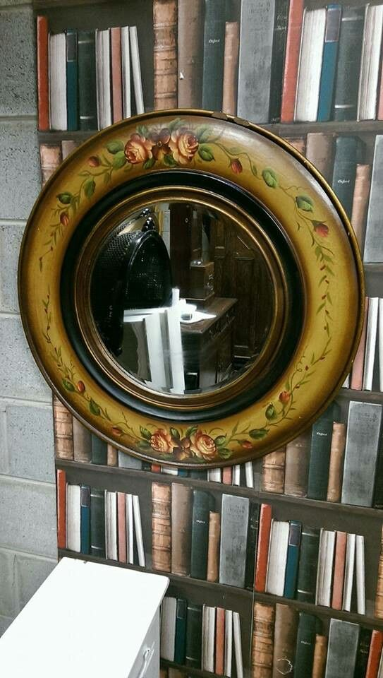 Large hand painted Floral mirror in good condition , has small chip on top in the shop now for only 45 euros