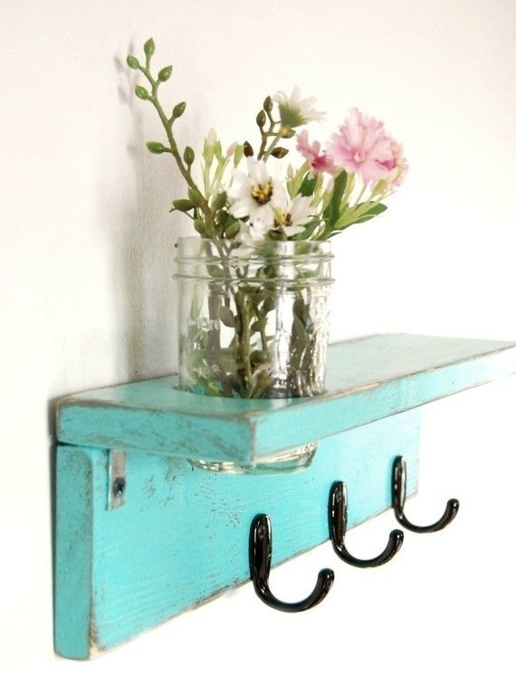 http://www.etsy.com/listing/61169720/vase-wood-wall-hook-shelf-aqua