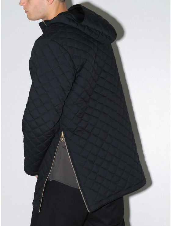 quilted pullover jacket black