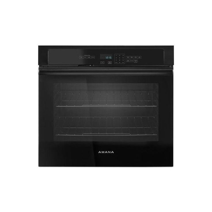 Amana AWO6313SF 30 Inch Wide 5 Cu. Ft. Single Electric Oven with Temp Assure Coo Black Ovens Electric Single