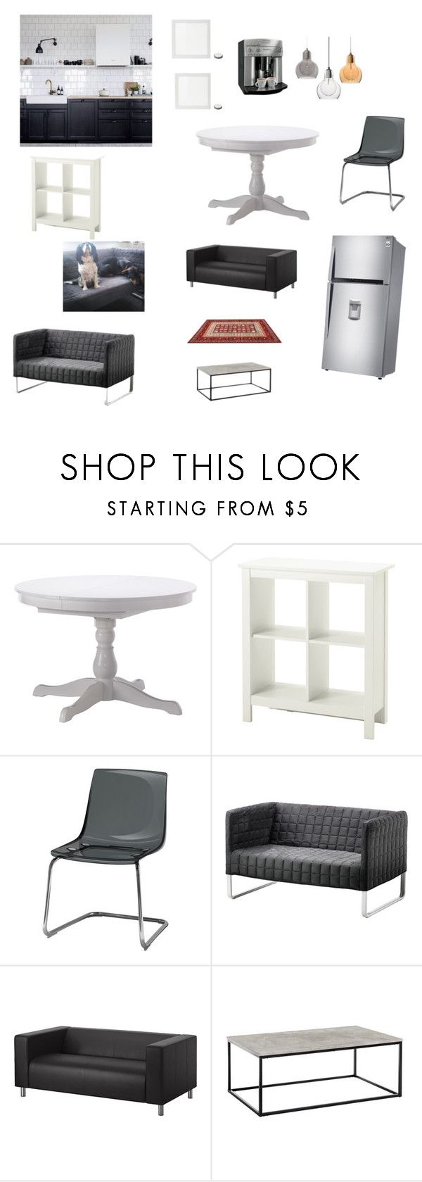 """Untitled #5"" by spimonique on Polyvore featuring interior, interiors, interior design, home, home decor, interior decorating, Klippan and kitchen"