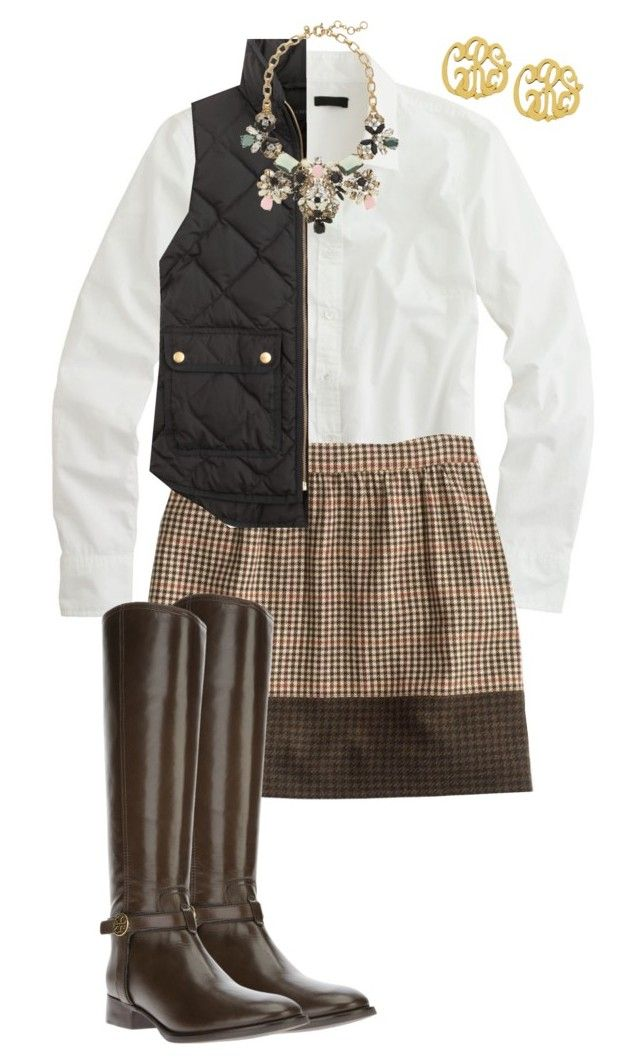"""""""Can You Say Preppy?"""" by km213 ❤ liked on Polyvore featuring J.Crew, Tory Burch, women's clothing, women's fashion, women, female, woman, misses and juniors"""