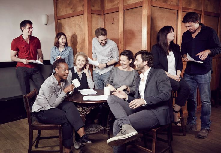 May 22, 2014: The cast of Broadchurch at the read-through of ep1 s2