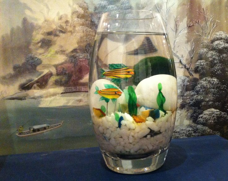 Marimo and Glass Fish by Biophilia, Guelph, Ontario SOLD