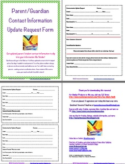 Keep Parent Contact Information Current--Free Download