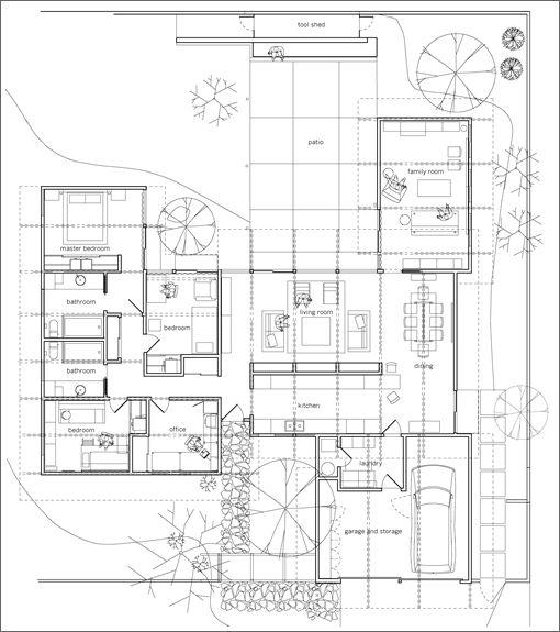 15 best mid century floor plans images on pinterest for Eichler flooring