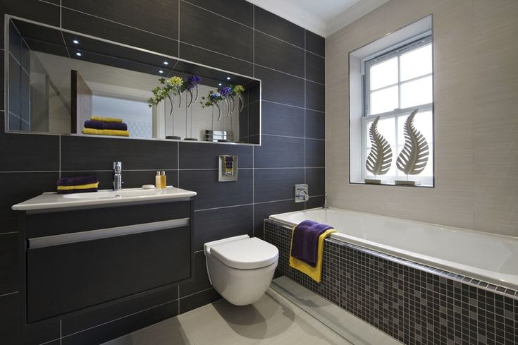 image result for using 30x60 tiles in toilet  grey