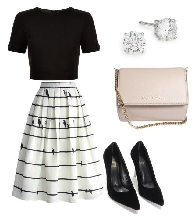 Out for lunch by creece-massoudi on Polyvore featuring polyvore, fashion, style, Ted Baker, Chicwish, Givenchy, Lord & Taylor and clothing