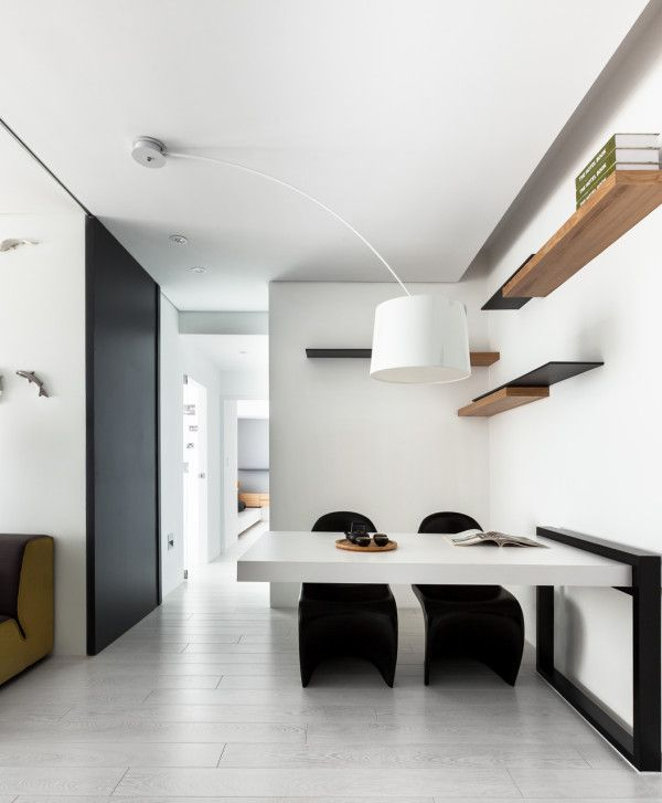 modern white and black apartment