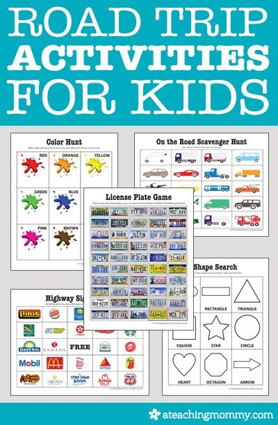 Road Trip Worksheets : Road trip activities for kids trips free printables and