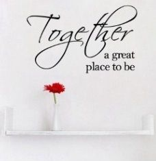 Together a great place to be wall sticker. So pretty for the living- or bedroom! www.theprettycollection.co.za