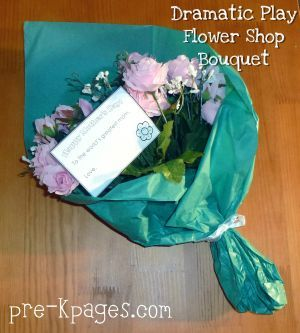 Mothers Day Bouquet Flower Shop Dramatic Play #preschool and #kindergarten