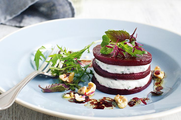 Create salads like a professional chef with this gourmet beetroot and goat's cheese stack. Check out the recipe wine match from Matt Skinner below.