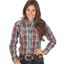 Ariat Western Shirt Womens Ruidoso Plaid Long Sleeve Snap