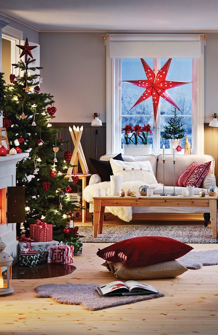 #Navidad rojo; ikea