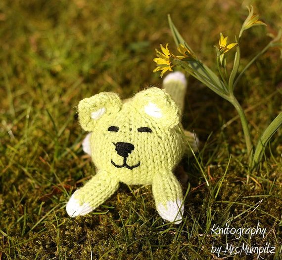 Toy Cat handmade from eco friendly cotton by KnitographyByMumpitz, kr100.00