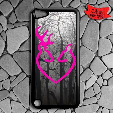 Pink Browning Deer Dark Forest iPod 5 Black Case