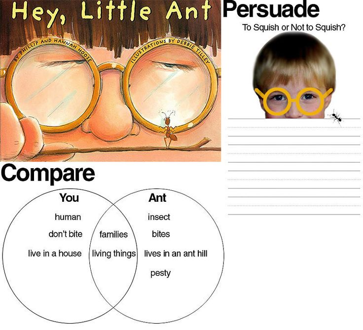 hey little ant persuasive writing activity