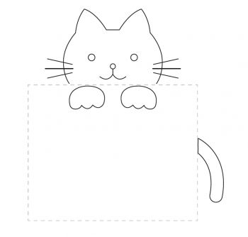 Pocket Kitty Embroidery Pattern.. This would be cute around a pocket