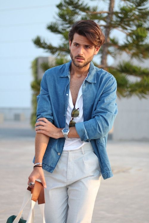 7c349f781c Being in your 20s is one of the best times to get creative and experimental  with fashion and style. Check out 15 Denim Shirt Outfit for men.