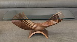 Spiral Cocktail Table by Blaise Gaston: Wood Coffee Table available at www.artfulhome.com