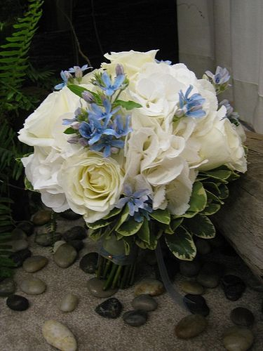 Bridal bouquet with tweedia   Flickr - Photo Sharing!
