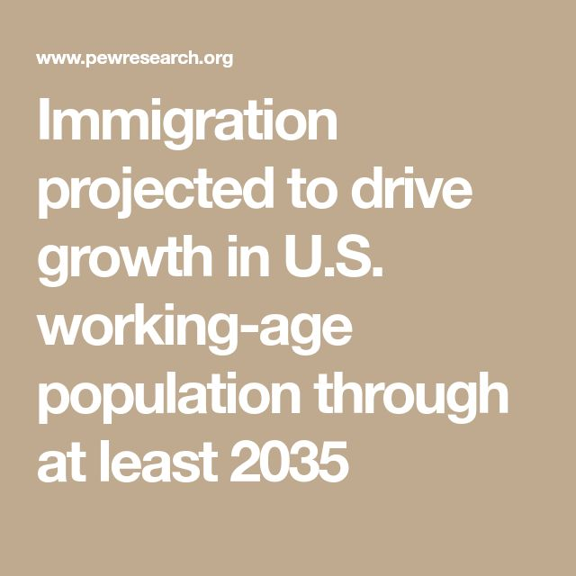 Immigration projected to drive growth in U.S. working-age population through at least 2035