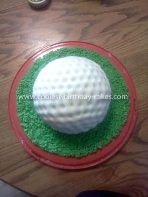 Coolest Fathers Day Golf Ball Cake: My dad is a huge golf player. And for Fathers Day I figured I would make a  Fathers Day Golf Ball Cake. Wasn't exactly sure how I would do it so I headed
