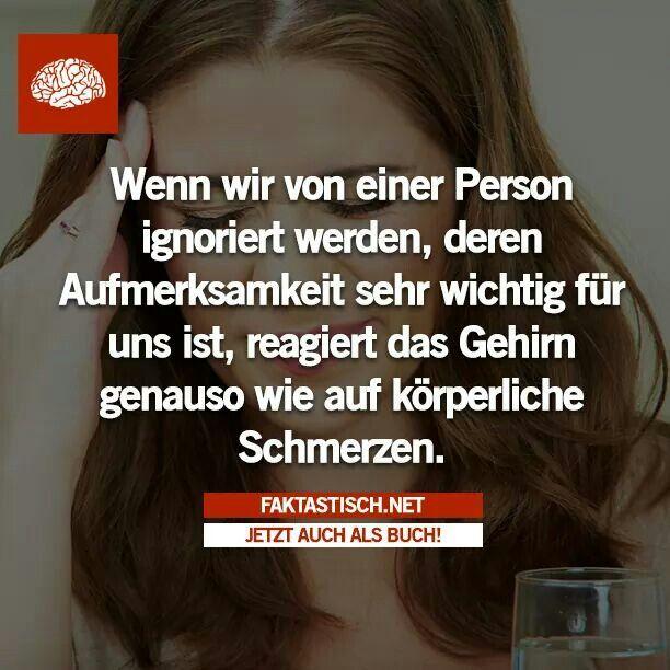 Wenn wir von einer Person ignoriert werden...