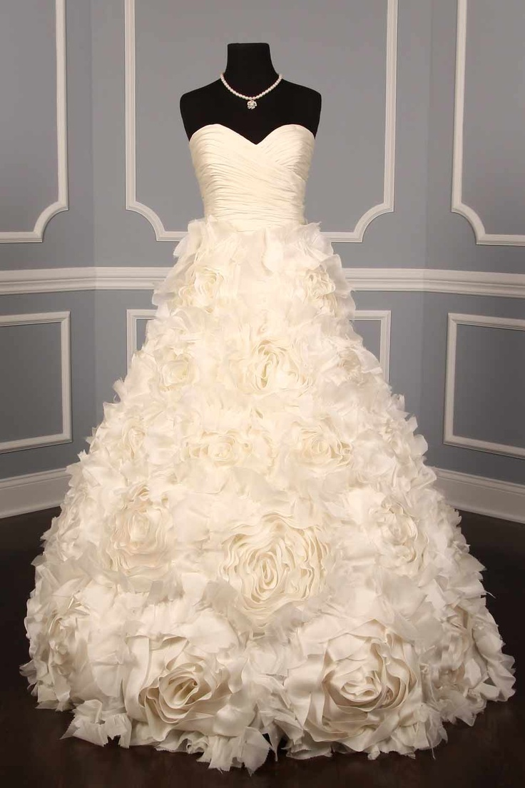 Monique Lhuillier Sunday Rose Couture Bridal Gown - so pretty in person, but weighs a ton