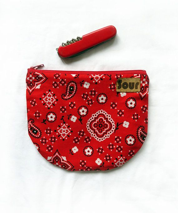 Otherwise Wild // Red Western Print Zipper Pouch with