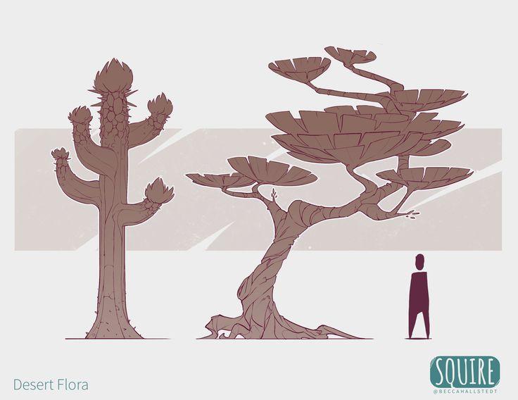 ArtStation - SQUIRE: Desert Biome Flora, Becca Hallstedt