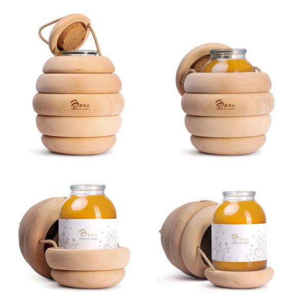 packaging original pour miel Honey Backbone Studio