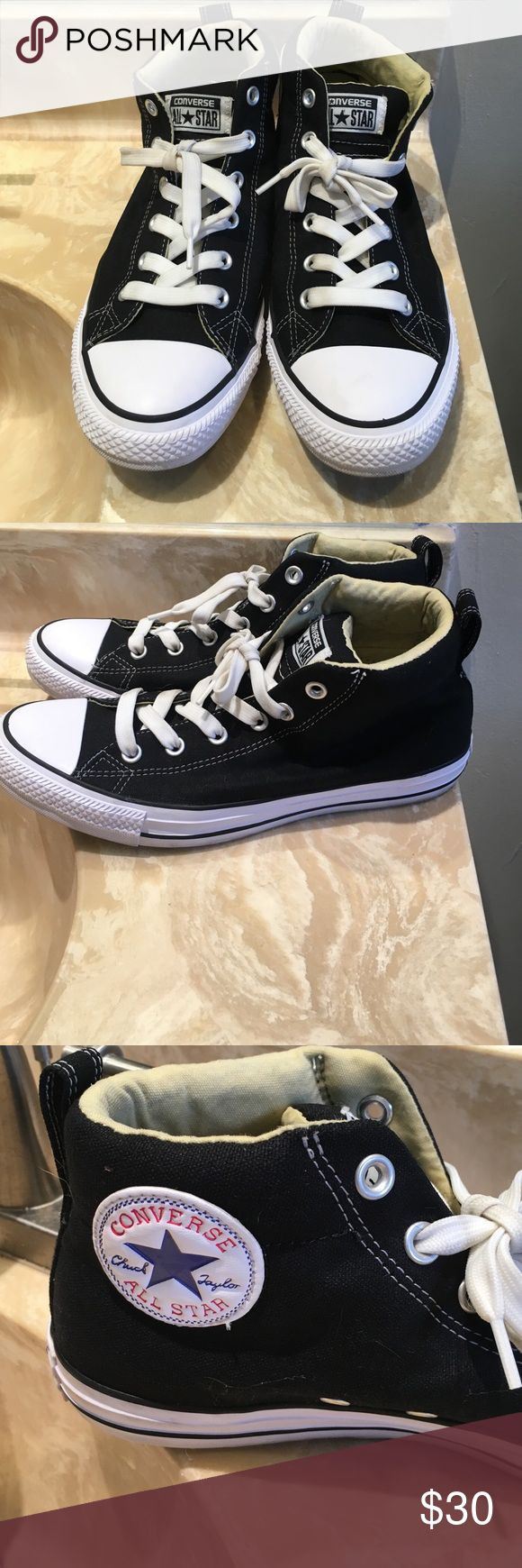 Men's Converse High Tops Worn 4 times, great condition, teenage boy growing to fast to wear shoes often Converse Shoes Sneakers