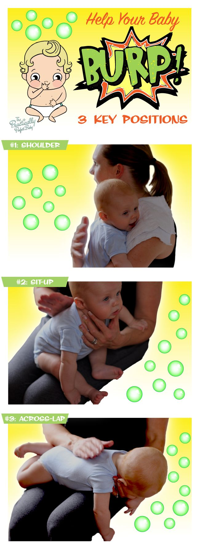 We find the best burping success with these three burping positions! What are yours?