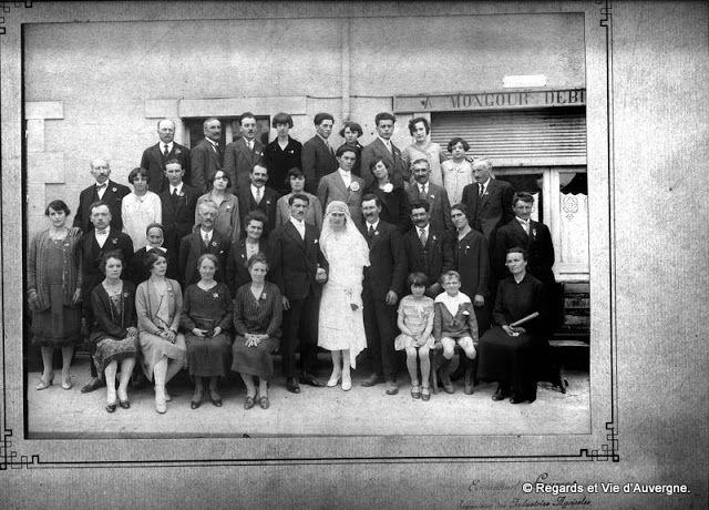 Regards et Vie d'Auvergne: Trois mariages Auvergnats en photos anciennes noir...
