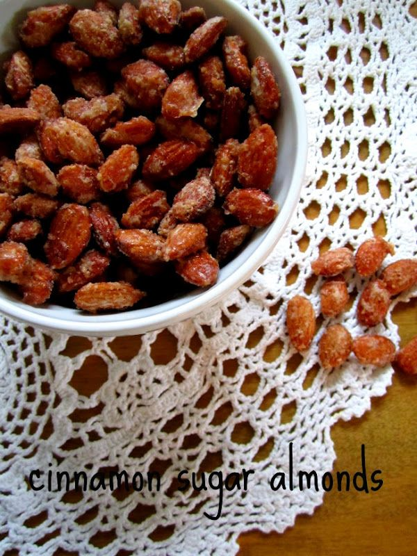 cinnamon sugar almonds...made these tonight & they were amazing! Yay Natalie! 1st pin I actually made!