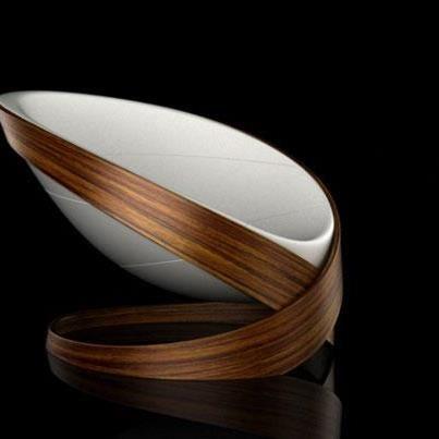Relax chair de Kamil Kurka. Cuando la línea y los materiales están bien mezclados. La amé.