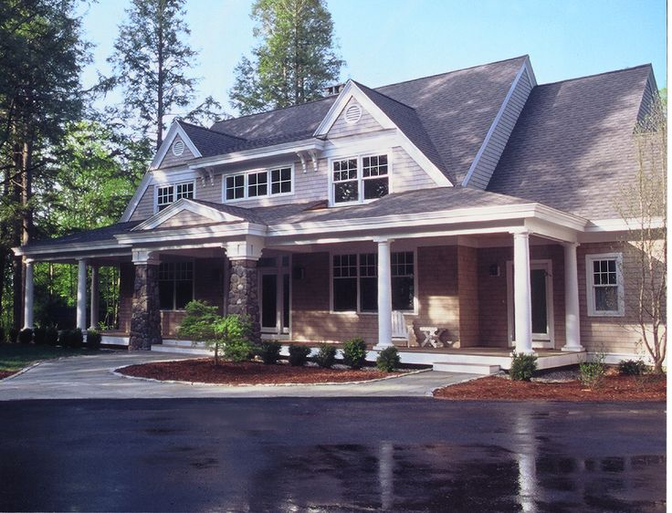 Hilltop Cottage Front Elevation Shingle Style Cottage
