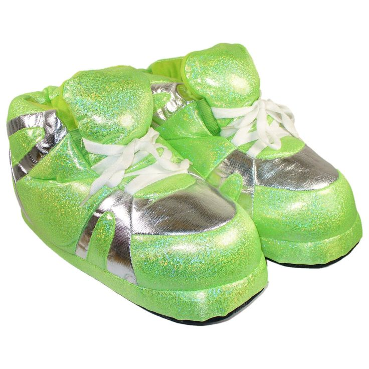 Comfy Feet Snooki's Neon Green Slippers - 1094-1
